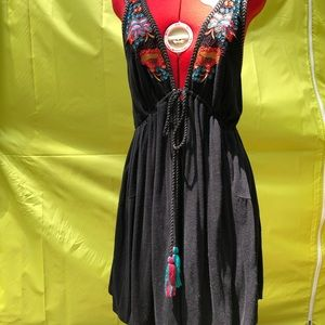 Free People Dresses - NWOT Free People embroidered knit empire dress